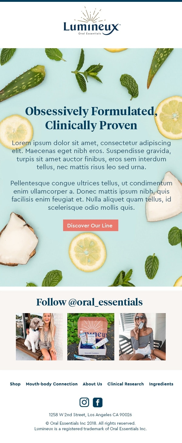 lumineux-oral-essentials-natural-toothpaste-email-design-marketing